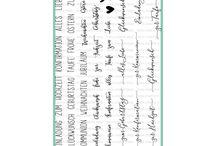 Grüße Mischmasch / Deutsche Textstempel zu jedem Anlass. Drei verschiedenen Schriftarten auf einem großen Din A5 Bogen in herausragender Qualität bieten zu jedem Anlass den richtigen Stempel