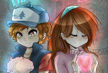 Dipper and Mabel pines
