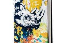 Notebook Cover - Why Does The Bible Mention Unicorns / Leather Notebook Cover for Women, Limited Edition Designer Leather Notebook Cover COLOURS OF MY LIFE - Limited Edition wearable art signed by Anca Stefanescu.
