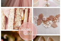 Rose Gold Wedding / Weddings with a rose gold colour
