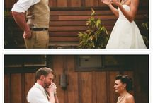 The First Look / Whether it's with your parents, your girls, or your groom, the feeling of seeing your loved ones for the first time on your wedding day indescribable. But, we can try to capture it in a picture.  / by Mon Cheri
