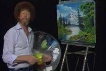Bob Ross / festészet oktató video