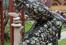 Скульптуры кованые