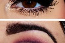 Makeup colors dark eyes and skin