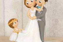 Figuras novios, Figuras tarta / Las figuras de parejas de Novios, para tener como recuerdo de Boda, o poner en tu tarta de Boda.