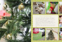 Christmas Scrapbooking / Take a peek at my favorite Christmas scrapbook pages.