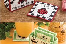 Cross Stitch Coaster.