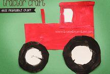 nápady pro děti - vesnice, zemědělské stroje