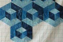 blauwe hexagon