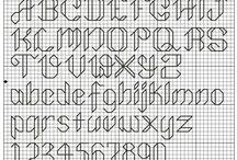 kanaviçe - iğne ardı harfler