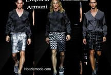 Emporio Armani uomo / Emporio Armani collezione e catalogo primavera estate e autunno inverno abiti abbigliamento accessori scarpe borse sfilata uomo.