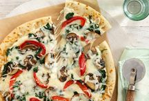 recipes / 2/3cup PHILADELPHIA Italian Cheese and Herb creme  1-1/2cups KRAFT Shredded Mozzarella Cheese with a TOUCH OF PHILADELPHIA make it HEAT oven to 450°F.   1Tbsp. oil, divided 2cups sliced fresh mushrooms 1/2 red pepper, cut into strips 3cups baby spinach leaves 1 ready-to-use baked pizza crust (12 inch) 2/3cup PHILADELPHIA Italian Cheese and Herb Cooking Creme 1-1/2cups KRAFT Shredded Mozzarella Cheese with a TOUCH OF PHILADELPHIA / by Clarissa Owens Whosoever