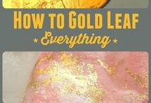 Gold leaf/ DIY/ art tutorials