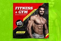 Fitness+Gym Instagram Banner