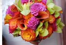 lime green pink/fuchsia orange yellow wedding ideas