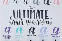 Brush lettering inspo