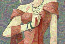 Deep Dream Art / All images are generated with Deep Dream Filter, images created into all new works of art.