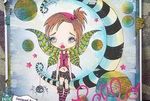 Sarah Bell's Oddball Art DT Cards
