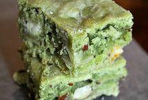 green tea, matcha cake
