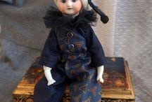 Купить Принцесса Старого Цирка - тёмно-синий, кукла ручной работы, антиквариат