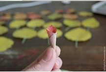 lavori con foglie