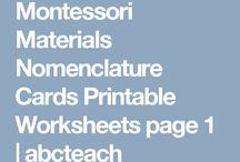 Montessori worksheets/DIY