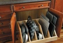 Love this idea for my muffin tins, baking tins kitchen cabinets