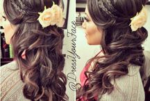 my wedding hair♡♡