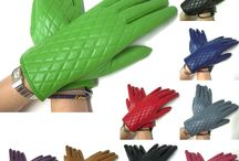 Womens Ladies Dressy Quilted Leather Gloves