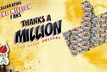 Thanks A Million! / Celebrating 1 Million awesome Facebook fans! :D