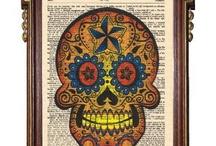 sugar skull art / by Jennifer Maxwell-Sampson
