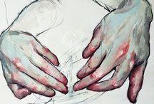 acrylic, watercolor