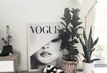Monochrome / Monochrome Inspiration - Black + White Beds / Home Decor / etcs.
