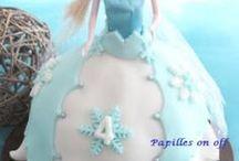gâteaux pour mon Noël reine des neiges