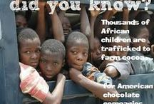 Child Labor and Slavery in the Cocoa Industry / please stop buying cocoa/ chocolate from Africa! They traffic children and force them to work on cocoa plantations.