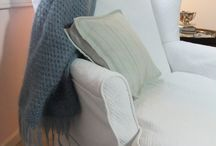 Pam's Matelasse Slipcover / I combined my customer's king size matelasse bedspread with 12 ounce cotton duck from Big Duck Canvas. Voila!  A gorgeous white-on-white slipcover for her vintage chaise.