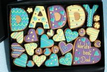 Father's Day Cookie gifts / A range of Father's Day Custom cookie gifts from cookie cards to large gift boxes.   http://www.customcookieco.co.uk/gift-cookies/father-s-day-cookies