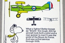 Wacky and Snoopy old planes cards