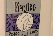 volleyball painting