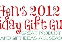 2012 Holiday Gift Ideas / Hen's 2012 Holiday gift Guide -- Great Product reviews and Gift Ideas, all season long! / by Henrietta Newman