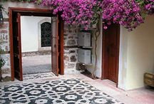 Mediterranean / When I'm in the Mediterranean, I love to stroll around and just enjoy the bright coloured flowers and tiles.