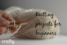 Learn to knit / Knitting