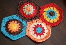 """Yarn: Hexagon Granny Square Crochet / Inspiration for my next crochet project. *Will be using the """"Hexagon How-To"""" from Attic24 (http://attic24.typepad.com/weblog/hexagon-howto.html) to make a blanket"""