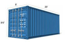20ft ISO-grade steel shipping containers