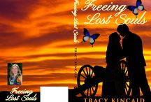 Freeing Lost Souls book / Sarah Finny is an artist who prides herself on being free, a nomad. Yet here she is, in Gettysburg, unaccountably attached to the place, and, very soon to Bruce Wilks. There on the old battlefield, Sarah comes upon Bruce and his injured leg. She is willing to give help but not, she thinks, her heart. There is, however, a third party, powerful and mysterious, who has brought them together, hoping to enlist them in finding his own very-long-lost love and, thereby, freeing lost souls.