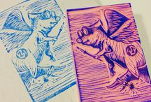 Flying Bacon / Sketches, Rubbercuts and Linocuts