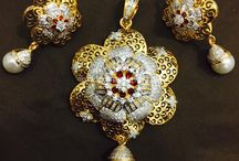 Jewellery gold with diamond