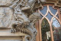Details : Dragons / Dragon details in buildings and dragon buildings.