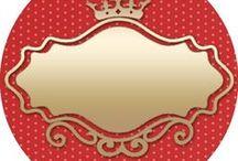 Dourado c vermelho