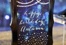 Under the Stars Galaxy Party   Ideas, Decorations and Inspiration / Galaxy Under the Stars birthday party ideas, including party decorations, confetti themed sweets and treats, printables and party activities.